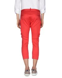 DSquared² - Pink 3/4-length Trousers for Men - Lyst