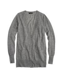J.Crew - Gray Classic Merino Wool Long Cardigan Sweater - Lyst
