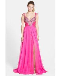 Mac Duggal - Purple Embellished Bodice Gown - Lyst