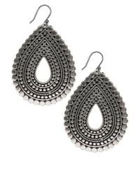 Lucky Brand | Metallic Silvertone Teardrop Earrings | Lyst