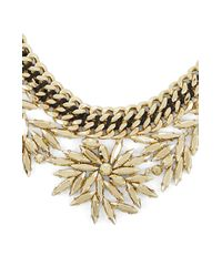 BCBGMAXAZRIA - Metallic Copper Woven Leaf Necklace - Lyst