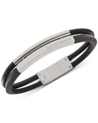 Emporio Armani | Metallic Men's Stainless Steel 2-row Bracelet Egs2058 for Men | Lyst