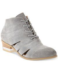 Kensie | Gray Aura Booties | Lyst