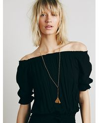 Free People | Natural Anu Tassel Necklace | Lyst