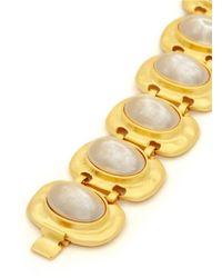 Kenneth Jay Lane - White Glass Pearl Station Bracelet - Lyst