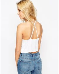 ASOS - White The Ultimate Crop Cami - Lyst