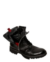 BB Bruno Bordese | Black Amphibious Calf-skin Ankle Boots | Lyst