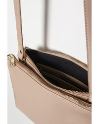Forever 21 - Brown Faux Leather Dual Crossbody - Lyst