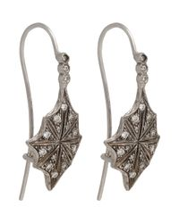 Cathy Waterman - White Star Drop Earrings Size Os - Lyst