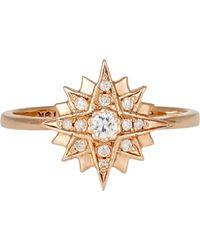 Sara Weinstock - Metallic Starburst Midi Ring - Lyst