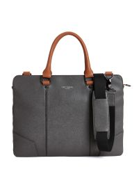 Ted Baker - Black Contrast Handle Document Bag for Men - Lyst