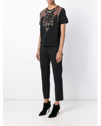 Etro - Black Embellished Printed T-shirt - Lyst