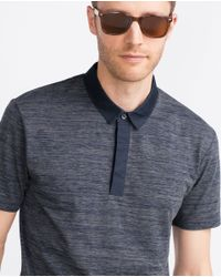 Zara   Gray Short Sleeve Polo Shirt for Men   Lyst