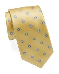 Michael Kors | Yellow Patterned Silk Tie for Men | Lyst