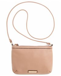 Calvin Klein | Natural Pebble Leather Crossbody | Lyst