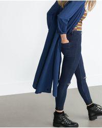 Zara | Blue High Waist Jeggings | Lyst