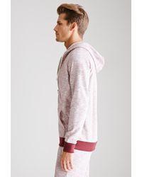 Forever 21 - Red Slub Knit Hoodie for Men - Lyst