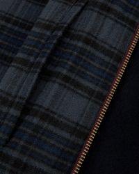 Ted Baker - Blue Drawn Wool Harrington Jacket for Men - Lyst