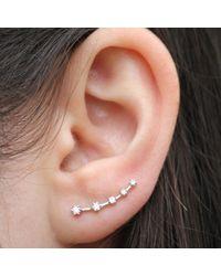 Anne Sisteron - Metallic 14kt White Gold Diamond Organic Ear Cuff - Lyst