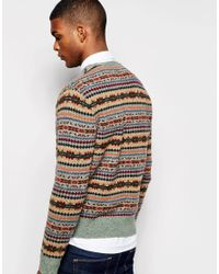 Polo Ralph Lauren   Gray Jumper With Fair Isle Pattern for Men   Lyst