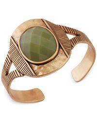 Lucky Brand - Metallic Gold-Tone Mint Cuff Bracelet - Lyst