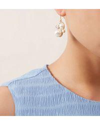 Hobbs - White Cassie Earring - Lyst