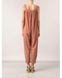 Lacausa - Pink Striaght Jumpsuit - Lyst
