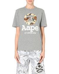 Aape | Gray Camo-logo T-shirt | Lyst