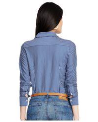 Polo Ralph Lauren | Blue Striped Button-front Shirt | Lyst