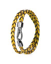 Tod's | Orange Mycolors Bracelet In Leather for Men | Lyst