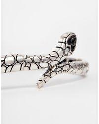 ASOS | Black Snake Arm Cuff | Lyst