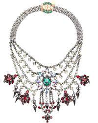 Mawi | Metallic Tiered Crystal Necklae | Lyst