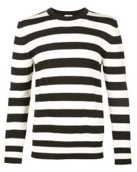 Saint Laurent - Black Striped Sweater - Lyst
