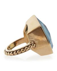 Stephen Dweck | Metallic Galactical Blue Agate Quartz Noveau Bead Ring 7 | Lyst