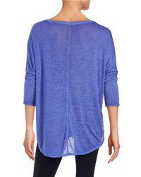 Calvin Klein | Purple Dolman Sleeved Tee | Lyst