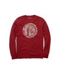 Denim & Supply Ralph Lauren - Red Cotton Jersey Graphic Tee for Men - Lyst