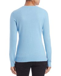 Lord & Taylor - Blue Plus Dip-dyed Cashmere Crewneck - Lyst
