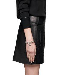 Alexander McQueen - Metallic Studded Lock Pendant Chain Bracelet - Lyst