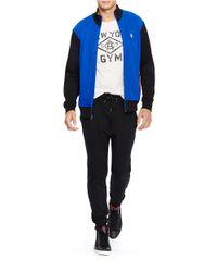 Polo Ralph Lauren | Blue Colorblocked Interlock Track Jacket for Men | Lyst