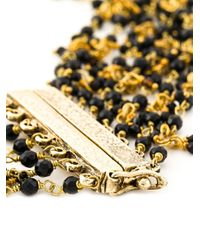 Rosantica | Black Multi Strand Beaded Necklace | Lyst