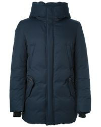 Mackage - Blue Fur-Trimmed Cotton and Wool-Blend Jacket  - Lyst