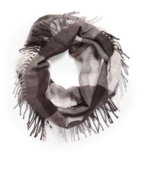 Lord & Taylor | Black Plaid Infinity Scarf | Lyst