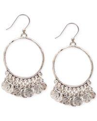 Lucky Brand - Metallic Shaky Coin Gypsy Hoop Earrings - Lyst