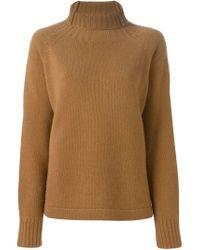 Sportmax - Brown Roll Neck Sweater - Lyst