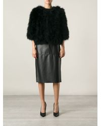 Giorgio Brato - Black Cropped Feathered Jacket - Lyst