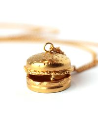 Goldie Rox - Metallic The Burger Locket - Lyst