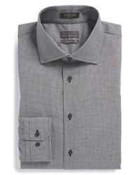 Calibrate | Black Trim Fit Non-iron Check Dress Shirt for Men | Lyst