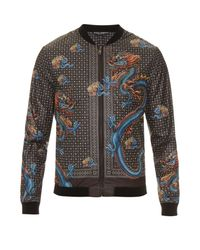Dolce & Gabbana | Brown Dragon-print Nylon Jacket for Men | Lyst