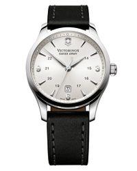 Victorinox | Black Victorinox Swiss Army 'alliance' Large Watch for Men | Lyst