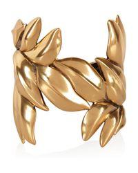 Oscar de la Renta | Metallic 24-Karat Gold-Plated Leaf Cuff | Lyst